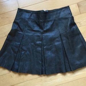 All Saints leather skirt